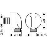 Подключение для шланга Hansgrohe Fixfit E 27454000, фото 2