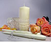 """Набор свечей """"Семейный очаг"""" бежевого цвета, арт. НПш"""