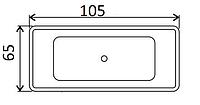 Ванни прямокутні Smaviit 105х65