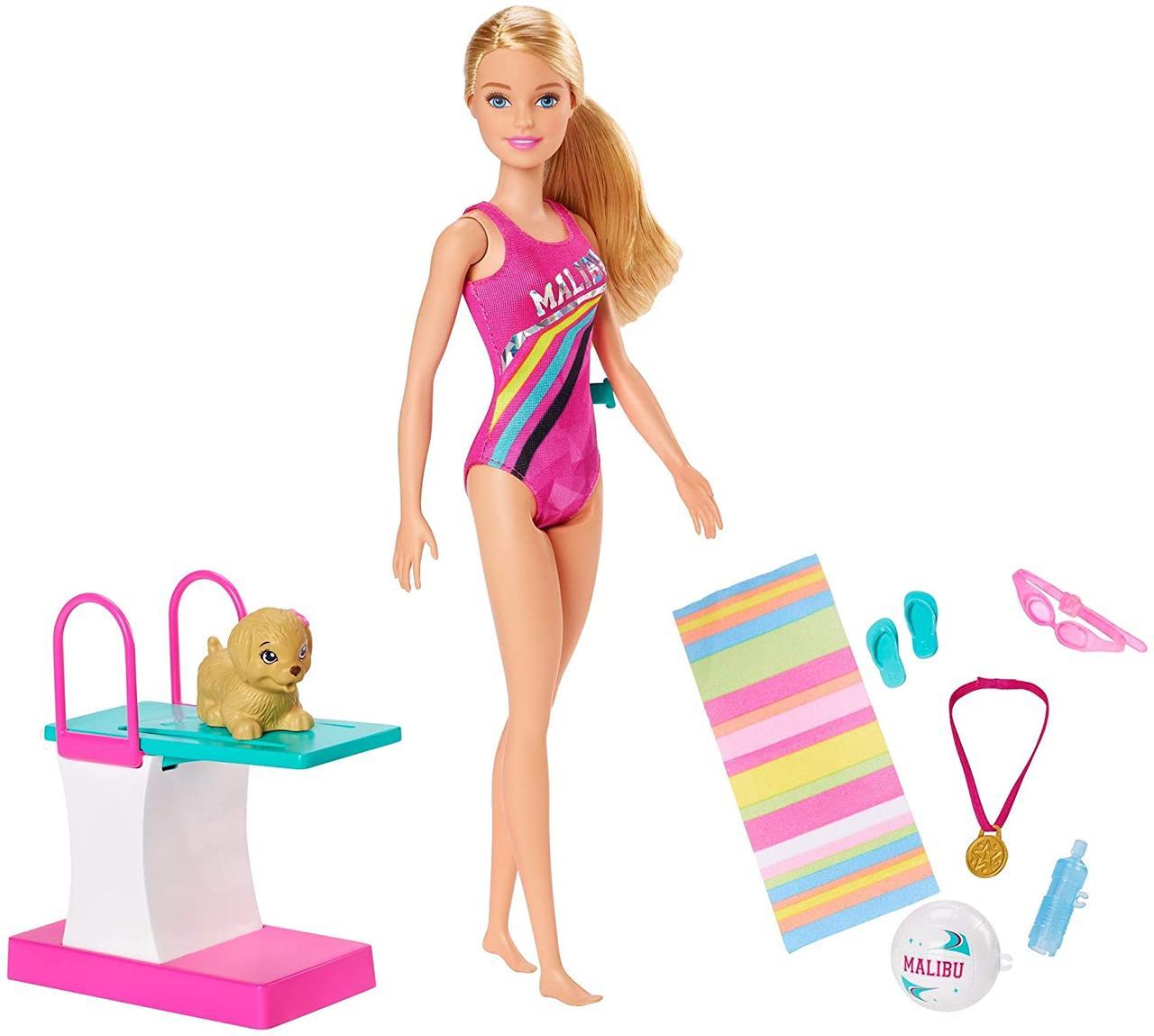 Кукла Барби Чемпион по плаванию Barbie Dreamhouse Adventures Swim 'n Dive
