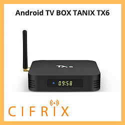 Android TV Box Tanix TX6 смарт тв приставка на андроид 4\32