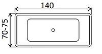Ванни прямокутні Smaviit 140х70, 140х75