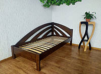 """Детская кровать из массива дерева """"Радуга"""" (90х200) цвет на выбор 90х200, Орех лесной, левый"""
