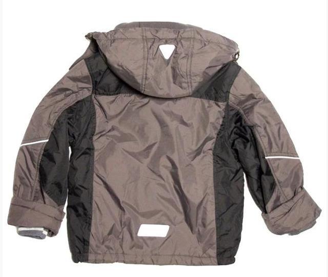 Детская демисезонная куртка для мальчика 4-7 лет на флисе серая