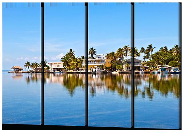 Сегментная (модульная) картина Южный курорт 106*73 см Код: W477M