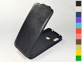 Откидной чехол из натуральной кожи для Xiaomi Redmi Note 6 Pro