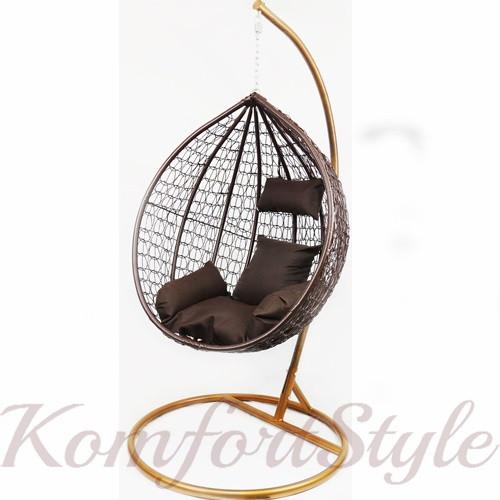 Подвесное кресло-качалка кокон B-183A (коричневое) (46000001) Бесплатная доставка!