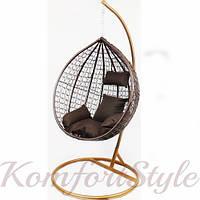 Подвесное кресло-качалка кокон B-183A (коричневое) (46000001) Бесплатная доставка!, фото 1