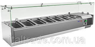 Витрина холодильная для топпинга Gooleq VRX 1500/330