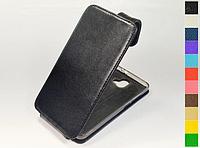 Откидной чехол из натуральной кожи для ZTE Blade V8 Pro