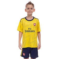 Форма футбольная детская ARSENAL гостевая 2020 Zelart CO-0983 (р-р 20-28-6-14лет, 110-155см, желтый-синий)