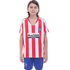 Форма футбольная детская ATLETICO MADRID домашняя 2020 Zelart CO-0985 (р-р 20-28-6-14лет, 110-155см,