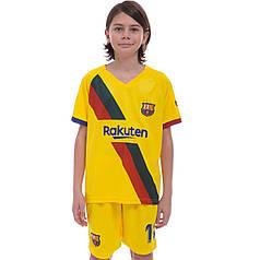 Форма футбольная детская BARCELONA MESSI 10 гостевая 2020 Zelart CO-0975 (р-р 20-28-6-14лет, 110-155см,