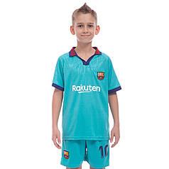 Форма футбольная детская BARCELONA MESSI 10 резервная 2020 Zelart CO-0976 (р-р 20-28-6-14лет, 110-155см,