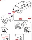 Фонарь задний левый на крышке багажника киа Соренто 3, KIA Sorento 2015-18 UM, 92403c5110, фото 5