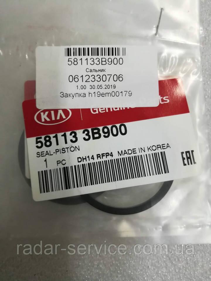 Уплотнительное кольцо поршня тормозного суппорта киа Соренто 2, KIA Sorento 2009-14 XM, 581133b900