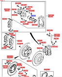 Уплотнительное кольцо поршня тормозного суппорта киа Соренто 2, KIA Sorento 2009-14 XM, 581133b900, фото 3