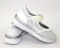 Белые закрытые детские туфли, фото 1