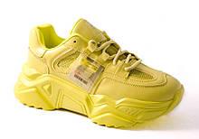 Кроссовки женские салатовые All Shoes 119-19223-27