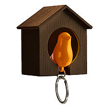 Ключница QUALY Sparrow Keyring brown-yellow QL10091