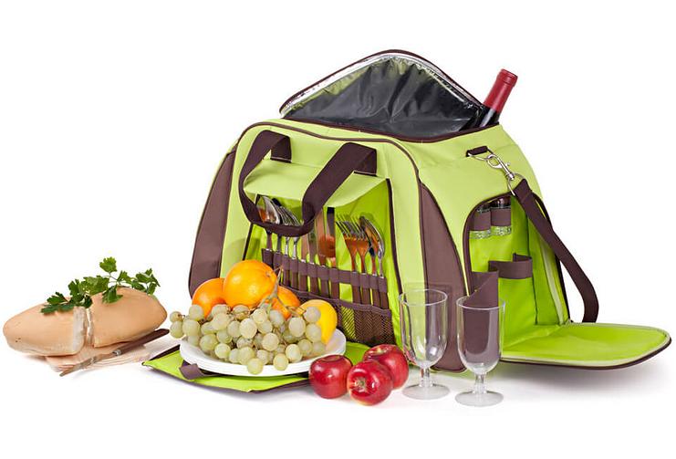 Набор для пикника КЕМПИНГ СА-429 (посуда на 4 персоны + сумка с термо-отсеком)