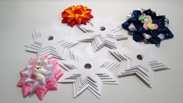 Шаблон звездочка для канзаши