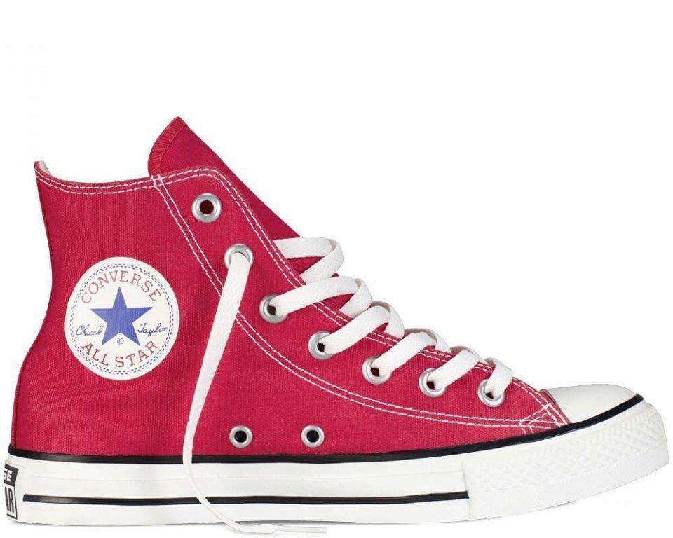 Кеды Converse All Star Red (Конверс высокие красные) мужские и женские 36-44