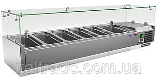 Витрина холодильная для топпинга Gooleq VRX 1500/380
