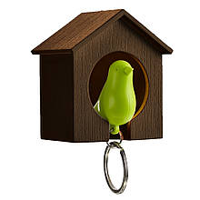 Ключница QUALY Sparrow Keyring brown-green QL10091