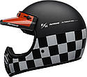 Шлем кроссовый Bell Moto-3 Fasthouse Checkers Black/White/Red, фото 2