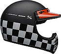 Шлем кроссовый Bell Moto-3 Fasthouse Checkers Black/White/Red, фото 6