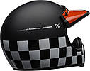 Шлем кроссовый Bell Moto-3 Fasthouse Checkers Black/White/Red, фото 5