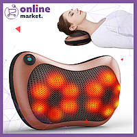 Роликовый массажер для шеи и спины Massage pillow GHM 8028 / Массажная подушка