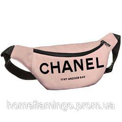 Сумка на пояс, бананка Chanel