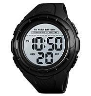 Skmei 1563 мужские спортивные часы черные, фото 1