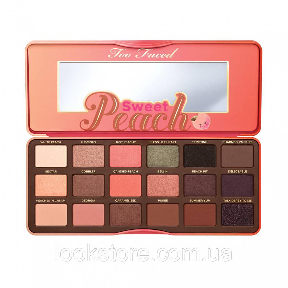 Палитра теней TOO FACED Sweet Peach Eye Shadow Collection 18 в 1