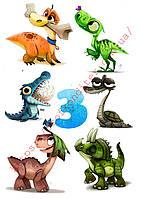 """Вафельная картинка """"Динозавры""""  - 1"""