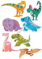 """Вафельная картинка """"Динозавры""""  - 2"""