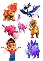 """Вафельная картинка """"Динозавры""""  - 3"""