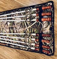 Набор шампуров с деревянной ручкой - ручная работа (3 мм)