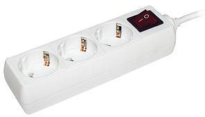 Удлинитель  У03К-выкл.3 места 2Р+PЕ/5метров 3х1мм2  16А/250 IEK (WYP10-16-03-05-ZK-N)