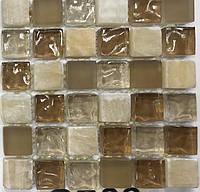 Бежевая мозаика из натурального камня и стекла Vivacer CS06