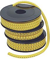 "Маркер МК1- 2,5мм символ ""6""  1000шт/ролл IEK (UMK10-6)"
