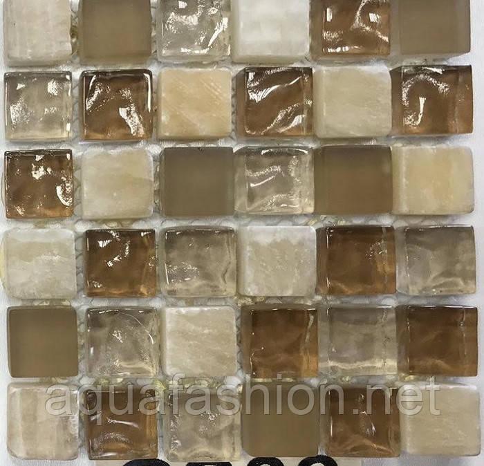 Мозаика для кухонного фартука из натурального камня Vivacer CS06