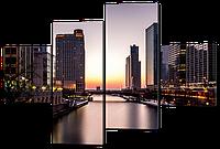 Модульная картина Город 126*85 см Код: W390M