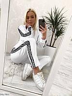 Женский Белые Спортивный Костюм с лампасами