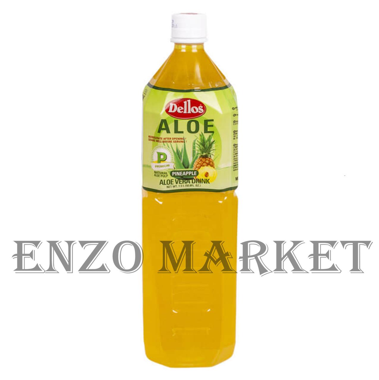 Напиток Аloe Vera Drink Pineapple Dellos (алоэ+ананас), 1,5 литра