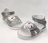 Детские сандалии сандали босоножки для девочки серебристые Jong-Golf 23р 14см