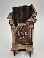 Деревянная подставка для телефона,смартфона.Police Box