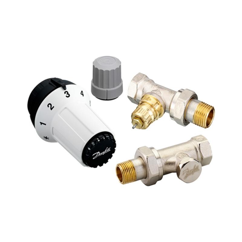 """Комплект термостатический Danfoss RAS-C+RA-FN+RLV-S 1/2"""" для радиатора прямой (013G5254)"""